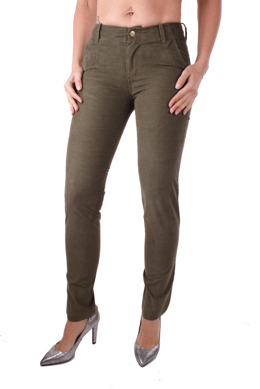 Diesel p-detta-a Pantaloni Ladies Cord Trousers Olive Green