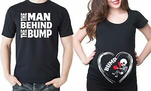 Bump-Maternity-T-shirt-Pregnancy-Tee-shirt-Couple-Set-T-shirts-Man-Bump-gift-tee