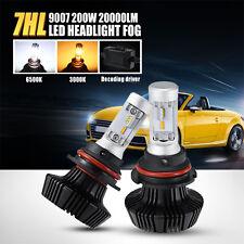 9007 HB5 200W 6500K White / 3000K Yellow Cree LED Headlights Kit Driving Fog Car