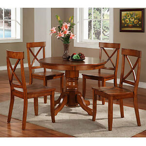 Image Is Loading Home Styles 5 Piece Pedestal Dining Set Cottage