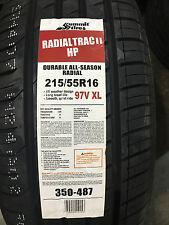4 New 215 55 16 Summit Radial Trac II HP Tires