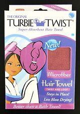 NEW THE ORIGINAL TURBIE TWIST Super-Absorbent WHITE Microfiber Hair Towel