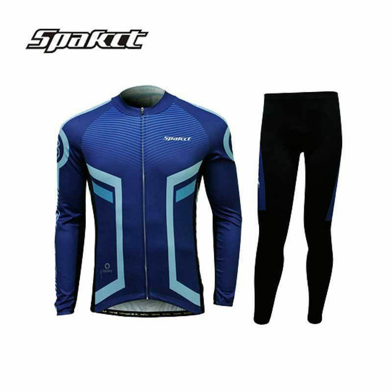 SPAKCT Men's Long Sleeves  Cycling Jersey Pants Tights set Bicycle Riding Suits  best choice