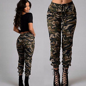 f1f2d887b11d2 Image is loading Womens-Combat-Trousers-Pocket-Leggings-Camo-Casual-Pants-