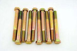 Grade 8 Hex Head 3//4-10 x 7 Cap Screws Bolts Coarse Yellow Zinc 6