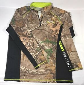 REALTREE-Mens-lightweight-034-dri-fit-034-Jacket-Camo-Scent-Factor-size-L-Large-A10