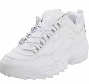 95dcf0f4b57 NEW MEN FILA DISRUPTOR II WHITE WHITE ORIGINAL SNEAKERS S N FW01655 ...