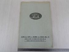 ALBUM PARTI DI RICAMBIO ORIGINALE 1929 CHASSIS FIAT 505