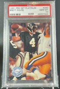 1991 Pro Set Platinum Brett Favre RC Rookie Card PSA 10 Gem Mint Low Pop