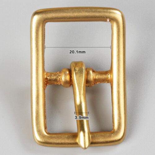 WUTA  Solid Brass Buckle Belt Strap Center Pin Style Heel Bar Various Size