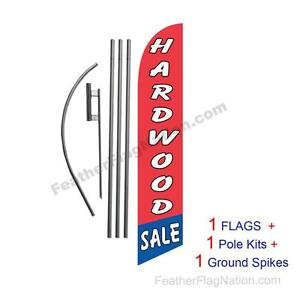 Hardwood Sale 15ft Feather Banner Swooper Flag Kit with pole+spike