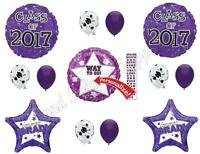Purple Class Of 2017 Graduation Party Balloons Decoration Supplies Personalize