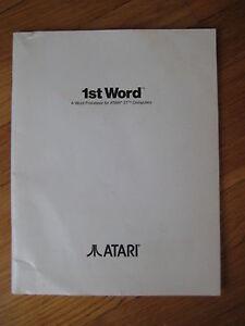 1985-Vintage-1st-Textverarbeitung-Atari-ST-Computer-Textverarbeitungsprogramm-Handbuch