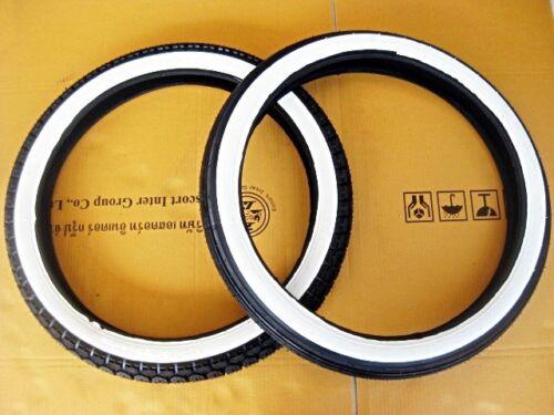 HONDA C50 C70 C90 C100 CA100 WHITE WALL TIRE SET size 17x2.25//17x2.50  #BI1009#