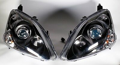 2002-2003 Honda Civic SI Projector Headlights Black NEW