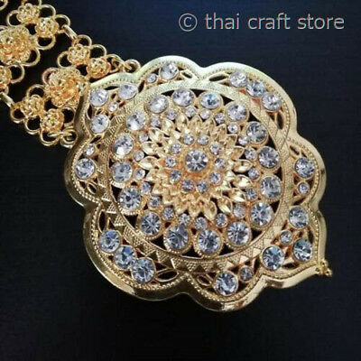 Women/'s Fashion Thai Costume Jewelry Belt Metal Chain Vintage Gold Plated Buckle
