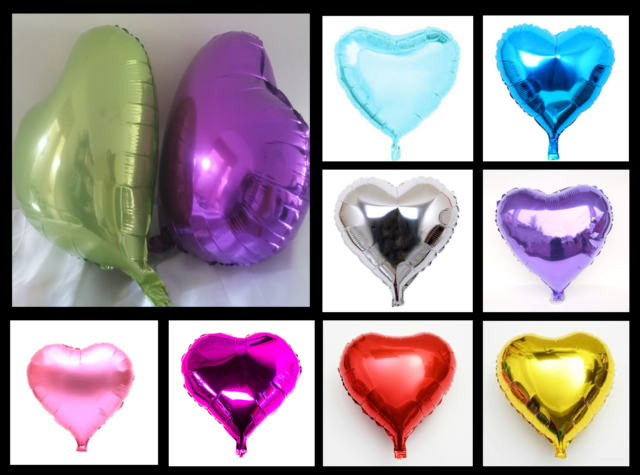 "18"" / 45cm Heart Foil Balloons Love Air Helium Birthday Party Decoration FAST!"