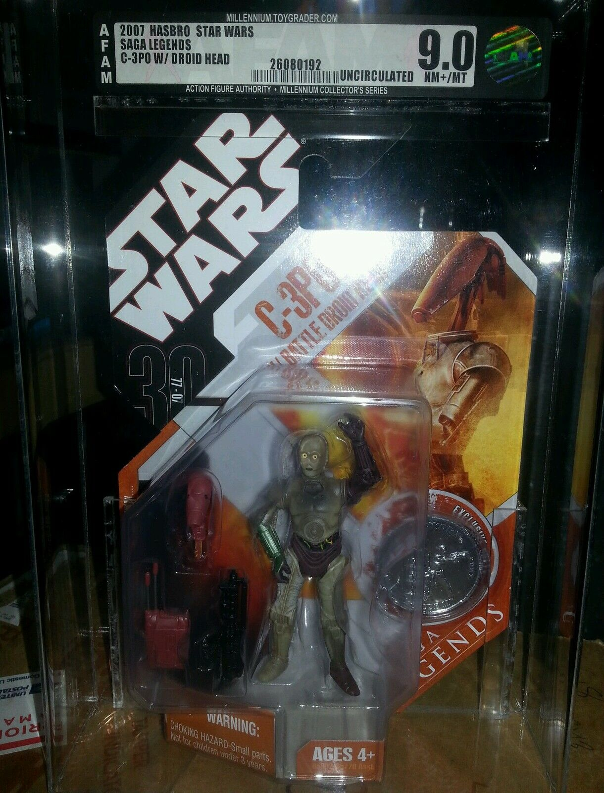 C - 3po mit star - wars - saga um kopf legenden tac afa 9,0 uncirculated