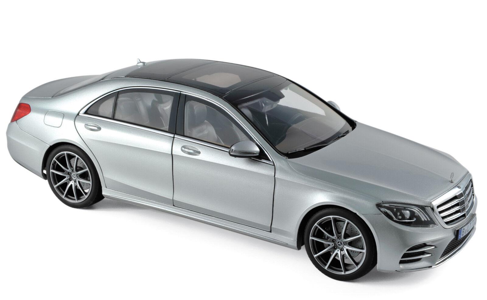 Mercedes-Benz S-Klasse AMG-Line silber Baujahr 2018 Maßstab 1 18 von Norev    Ermäßigung