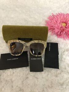 100% satisfaction guarantee double coupon casual shoes Details about 100% Authentic Dolce Gabbana Gold Lace D&G DG4231 2851/13  Lace Sunglasses New