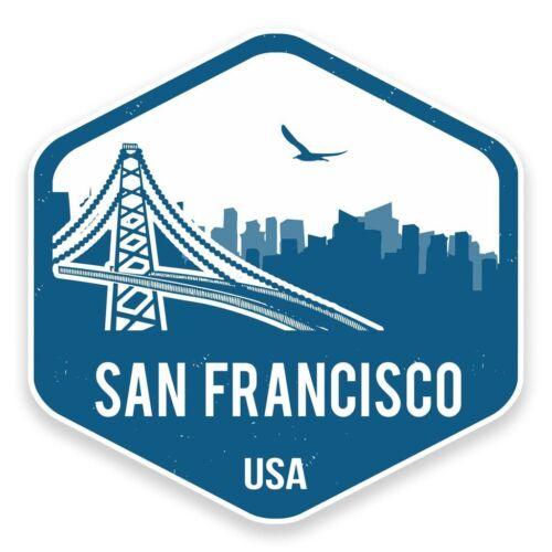 2 x San Francisco Vinyl Sticker Car Travel Luggage #9323
