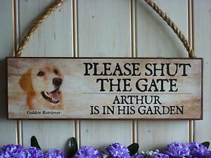 PERSONALISED-GATE-SIGN-GOLDEN-RETRIEVER-SIGN-DOG-PLAQUE-HOUSE-PLAQUE-PET-GIFTS