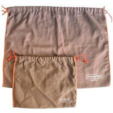 """COACH BROWN SATIN DUST BAG 15/""""X 19/"""""""