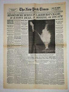 N859-La-Une-Du-Journal-The-New-York-times-7-may-1937-Hindenburg-Burns