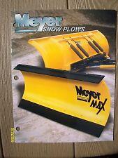 Vintage Original Myer Snow Plows Brochure