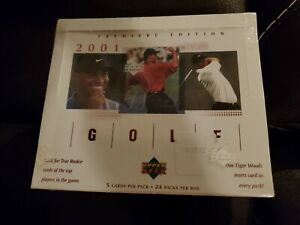 *SEALED* 2001 UD UPPER DECK GOLF BOX 24 PACKS POSSIBLE TIGER WOODS ROOKIE CARDS