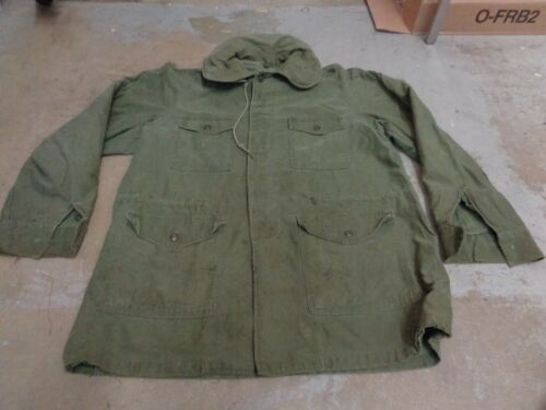 VTG ALPHA INDUSTRIES ARMY MILITARY JACKET SATEEN O