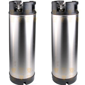 3 x 19 litre Ball Lock Reconditioned Used Keg New Lid