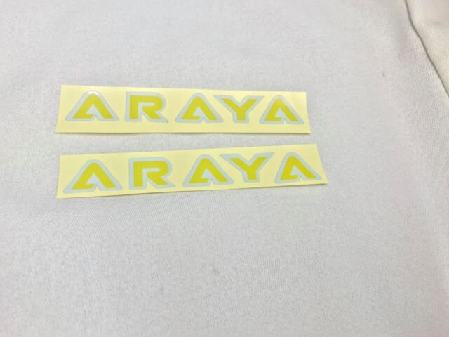 Nos Old School BMX Hub Decal Sticker for ARAYA Rim 7X C black