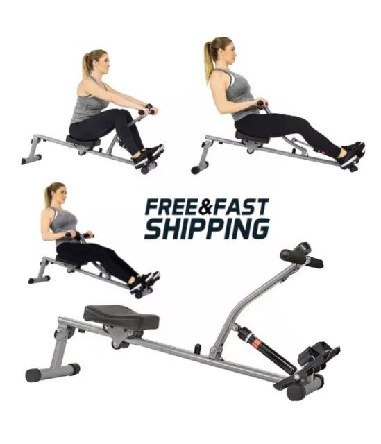 Sunny Health & Fitness 12 Adjustable Resistance Rowing Machine Rower w/ Digital