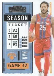 2020-21 Panini Contenders Basketball #27 Derrick Rose