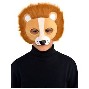 Details about Lion Mask Furry Jungle Safari Children Child Fancy Dress  Costume Accessory