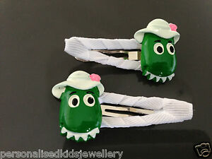 2x Snap Hairclip Wiggles Character Sale Overall Discount 50-70% 2019 Latest Design Dorothy The Dinosaur Girls Hair Clip