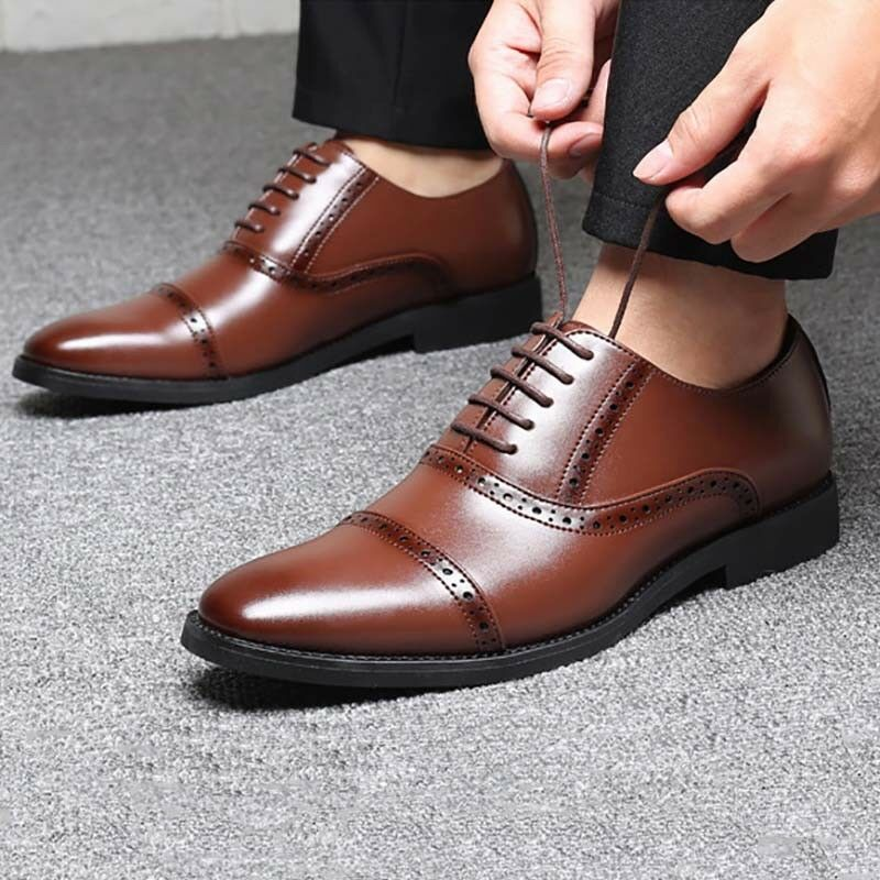 Men's Business Oxford Leather shoes Fashion Dress Formal Wedding Party Loafers