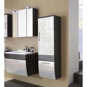 Bad Badezimmer Set Led Spiegelschrank Waschtisch Mobel Anthrazit