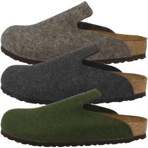 Birkenstock-Davos-Wollfilz-Clogs-Schuhe-Pantoletten-Slipper-Hausschuhe-Sandalen