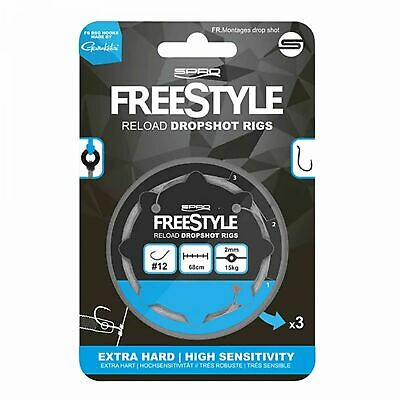Spro Freestyle Reload Dropshot Rig Fluorocarbon fertig gebunden Drop Shot 3 Stk