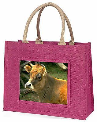 Rot Kuh Große Rosa Einkaufstasche Weihnachten Geschenkidee, ACO-1BLP