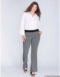 Lane Bryant Women/'s White Lena Moderately Curvy Fit Ankle Pants Size 28