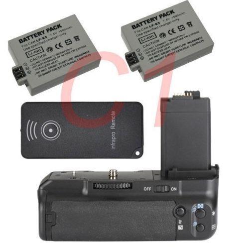 Battery Grip Pack for Canon EOS 450D 500D 1000D XS XSi+2 LP-E5 battery as BG-E5