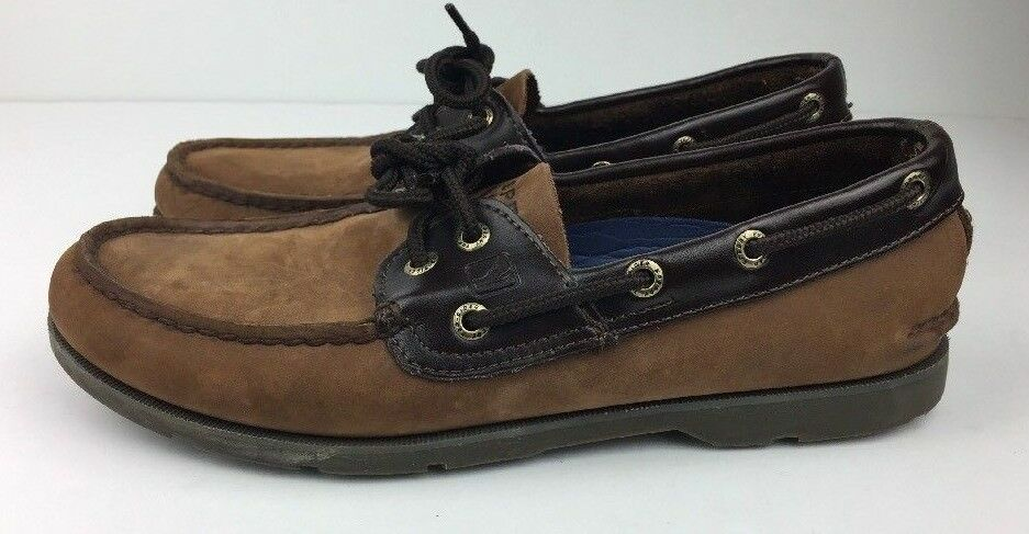 Sperry Top-Sider Leeward Boat shoes Men's Deck Brown Suede Leather 2 Eye Sz 8 M
