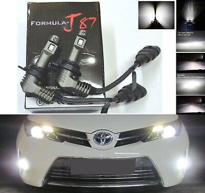 LED Kit N2 72W 9012 HIR2 6000K White Two Bulbs Head Light Dual Beam Replacement
