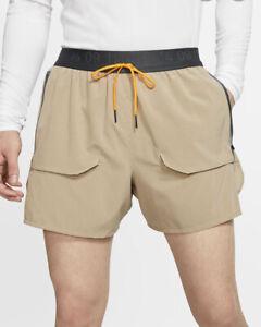Details about Mens Nike Tech Pack Lined Running Shorts Zipper Pockets Beige  2XL BV5689-247