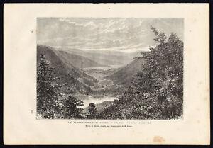 Antique-Print-FRANCE-COL-DE-LA-SCHLUCHT-RETOURNEMER-LONGEMER-Reclus-Barbant-1881