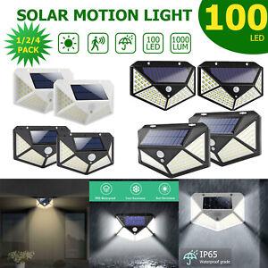 100LED-PIR-Lumiere-solaire-capteur-de-mouvement-etanche-lampe-jardin-exterieure
