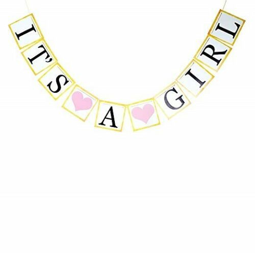 It/'s a Girl Banner Mom to be Sash Baby Shower Decorations for Girl